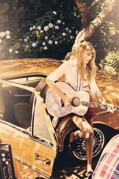 "{Closed Rp} I'm leaning against the car playing my guitar ""I'm not your princess this ain't my fairytale I'm going to find someone someday who might actually treat me well,"" I stop when I see you listening to me"