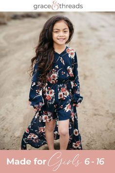 Tween clothing that is affordable, agreeable and ANYTHING but ordinary. Shop trendy outfits for girls Tween Fashion, Toddler Fashion, Casual School Outfits, Kids Outfits, Nice Dresses, Girls Dresses, Romper Dress, Girls Rompers, Boutique Clothing
