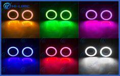 """Multi Color 2.5"""" 3"""" 3.5"""" LED Fog Light Projector Lens Angel Eyes Car Lights 3200lm"""