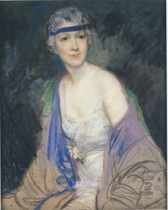 Portrait of Elsie De Wolfe by Sterner, Pastel on paper. Elise de Wulfe is the character in Gilded Dreams; the interior designer who is mentor to Mary Granville Barron. Elsie De Wolfe, Silver White Hair, Unnatural Hair Color, Vibrant Hair Colors, Blonde With Pink, Beauty In Art, Hair And Makeup Tips, Best Portraits, Many Faces