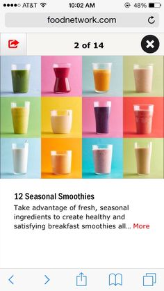 Seasonal Smoothie Recipes! #Food #Drink #Trusper #Tip