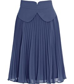 Lady-like. Reiss Hula Fully Pleated Skirt in Graphite African Fashion Dresses, Fashion Outfits, Fashion Skirts, Women's Fashion, High Skirts, Mode Style, Printed Skirts, Skirt Outfits, Long Skirts