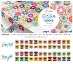 Scheepjes Garden Room Tablecloth Kit Bright and Pastel.