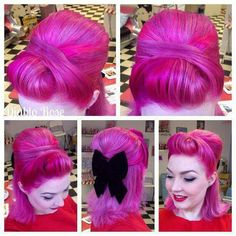 Rockabilly hairdo