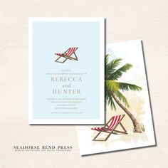 At The Beach Save The Date - Resort Collection