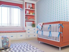 Don't let the need for a neutral nursery spoil the fun! Create a look you'll love with these fresh and gender-neutral nursery colors.: Orange, Aqua and Teal