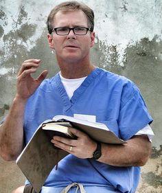Dr. Rick Boden leading devotions in Haiti  - CMDA Atlanta Haiti Medical Mission.  www.CMDAatlanta.org