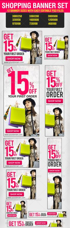 Shopping Banner Set - Banners & Ads Web Elements