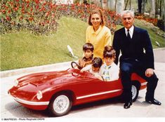 Shah, Queen, Reza, Farahnaz and Alireza, Shah and Queen sitting on Reza's toy car Farah Diba, King Of Persia, Pahlavi Dynasty, The Shah Of Iran, Sassanid, Iranian Women Fashion, Monaco Royal Family, Casa Real, King Of Kings