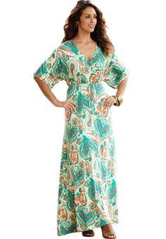 Dolman-Sleeve Maxi Dress Print in Spring 2013 from Jessica London on shop.CatalogSpree.com, my personal digital mall.