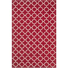 Chatham Rug in Red & Ivory design by Safavieh ($45) ❤ liked on Polyvore featuring home, rugs, cream area rug, cream wool rug, quatrefoil rug, ivory wool rug and red area rug