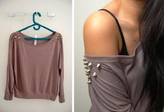 Studded Shoulder Sweater (studs-and-pearls.com)
