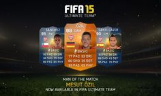 Man of the Match (MOTM) Özil nu beschikbaar op FIFA 15 Ultimate Team
