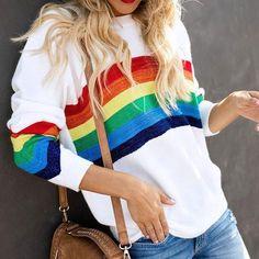 "Multi Striped Black Rainbow Jersey Knit Elastane 4W Stretch Cuff Fabric 61/"" wide"