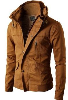 Mens High-neck Field Jacket this jacket would look awesome on you Fashion Moda, Look Fashion, Mens Fashion, Fashion Outfits, Fashion 2016, Leather Fashion, Winter Fashion, Fashion Trends, Mode Masculine