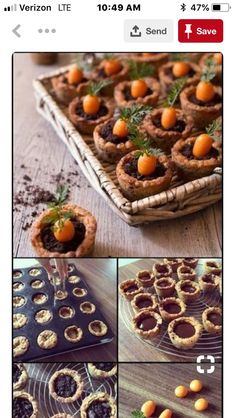 Carrot cookies jar - Easter recipes: jar-shaped cookies, garnished with ga . - Carrot cookies jar – Easter recipes: jar shaped cookies, topped with chocolate ganache, oreo and - Healthy Dessert Recipes, Cookie Recipes, Cupcake Recipes, Jar Recipes, Baking Recipes, Dinner Recipes, Cute Food, Yummy Food, Carrot Cookies