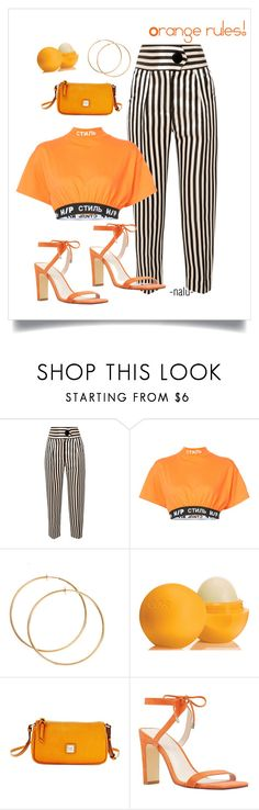 """""""Orange rules!"""" by oh-nalu ❤ liked on Polyvore featuring Petar Petrov, Heron Preston, Eos, Dooney & Bourke and Nine West"""