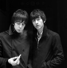 Alex Turner and Miles Kane (also known as The Last Shadow Puppets)
