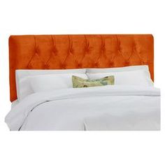 """Diamond-tufted headboard with a pine wood frame and foam cushioning. Handmade in the USA.   Product: HeadboardConstruction Material: Pine, fabric, metal, polyurethane and polyester foamColor: MangoFeatures: Handmade in the USADimensions: Twin: 51"""" H x 41"""" W x 4"""" D Full: 51"""" H x 56"""" W x 4"""" D Queen: 51"""" H x 62"""" W x 4"""" D King: 51"""" H x 78"""" W x 4"""" D California King: 51"""" H x 74"""" W x 4"""" DNote: Easy assembly required"""