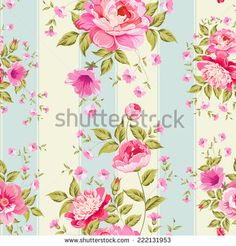 Luxurious peony wallpaper in vintage style. Vector illustration.