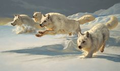 paintings from wild animal artist | ... Mrs. Don Pittman Wildlife Art Award for his oil painting THE CHASE