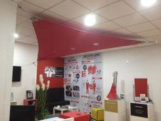 Nouvelle voile SOLTIS 92 (Serge Ferrari) installée au show room de Lyon 6, 1 rue cuvier.