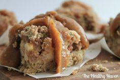 Salted Caramel Apple Crumb Bars #glutenfree #vegan