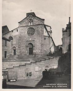 C'ERA UNA VOLTA GENOVA : Abbazia di S: Stefano nel 1800 ca http://ceraunavoltagenova.blogspot.it/