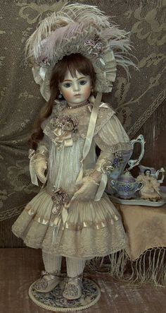 "24"" Doll by Mary Benner ... Dress by Cheryl Imbornone  ♥ Dollightfully Yours ♥"