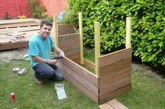You do not need to be a professional woodworker to take on these 9 cool woodworking projects for garden. Don't allow your garden & backyard to look Diy Outdoor Wood Projects, Cool Woodworking Projects, Garden Projects, Outdoor Pallet, Garden Ideas, Planter Boxes, Planters, Garden Boxes, Better Homes And Gardens