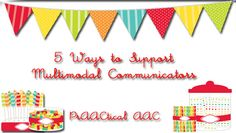 5 Ways to Support Multimodal Communicators from PrAACtical AAC.   Here's are some of the things that have helped communication partners we've worked with. We're learning to REACT by responding, expanding, acting, commenting, and turn-taking.