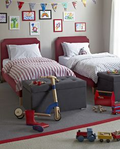 Boys bedroom ideas. Like the colours and wall frames/deco