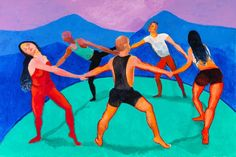 The Dancers IV by David Hockney