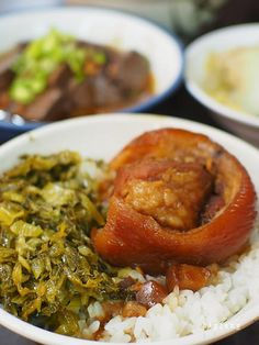 braised pork belly rice with pickled mustard greens   Taiwanese cuisine 爌肉飯