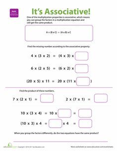 math worksheet : 1000 ideas about associative property on pinterest  properties  : Additive Inverse Worksheets