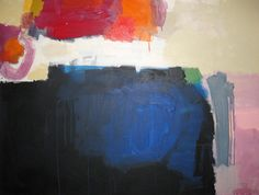 """""""Black and Blue"""" by Claire Desjardins - 48""""x36"""" - Acrylics on canvas. 2010."""