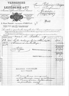 Here is another antique French typography invoice to share with you.  Once again, I have broken it into the three sizes, the top header, the...