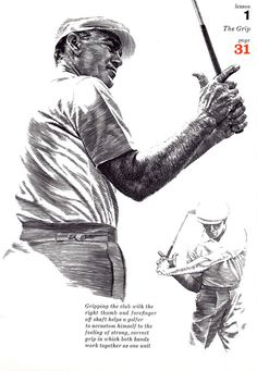 GOLF+print+of+Golf+pro+lesson+on+the+Grip+by+theStoryOfVintage