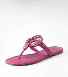 Tory Burch tumbled LEATHER MILLER SANDAL - i am SURE i need some new pink sandals for summer!!!