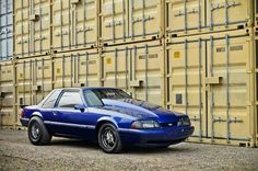 Fox body drag car Ford Mustang Fox Body, Neuer Ford Mustang, Ford Fox, 93 Mustang, Blue Mustang, Mustang Cars, Ford Mustangs, Ranger, Cool Old Cars