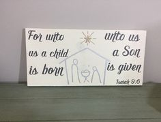 Christmas wooden sign - Isaiah 9:6 - Nativity sign - Rustic wooden sign - Christmas home decor - Bible verse decor - Wooden sign - Pallet wood - DIY wooden sign