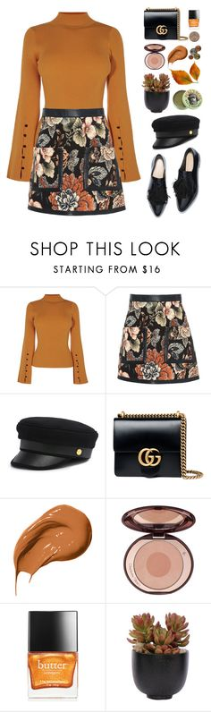 """French Girls"" by finding-0riginality ❤ liked on Polyvore featuring STELLA McCARTNEY, Henri Bendel, Gucci, Bobbi Brown Cosmetics, Charlotte Tilbury, Butter London, Lux-Art Silks and Burt's Bees"