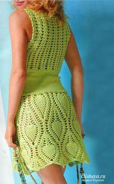 Captivating Crochet a Bodycon Dress Top Ideas. Dazzling Crochet a Bodycon Dress Top Ideas. Crochet Bodycon Dresses, Crochet Skirts, Crochet Clothes, Knit Dress, Moda Crochet, Knit Or Crochet, Hand Crochet, Pineapple Crochet, Crochet Woman