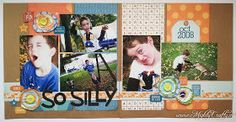 Boy layout with All About a Boy collection from Echo Park