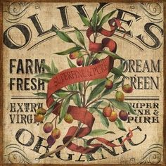 Farm Fresh Organic Olives Crate Label