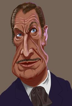 Vincent Price Caricature