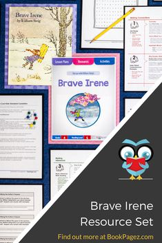 William Steig's Brave Irene is a smart choice for mini lessons focused on identifying the author's purpose, making connections, making inferences, making predictions, and retelling.  This common core aligned resource set also contains a running record, word work, and vocabulary connections perfect for fourth grade readers.  Get your copy here: https://bookpagez.com/resource/brave-irene-lesson-plans/