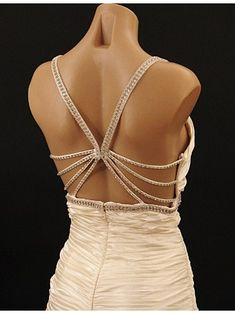 30\'s inspired ivory satin evening gown, vintage style wedding dress