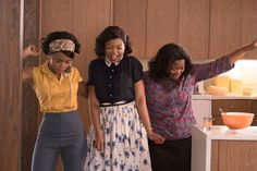 Taraji P. Henson & Octavia Spencer race to space in the Hidden Figures…