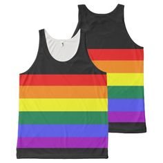 Rainbow Gay Pride LGBT All-Over Print Tank Top from #Ricaso
